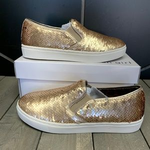 Madden Girl Lovin Champagne Gold Slip Ons Youth